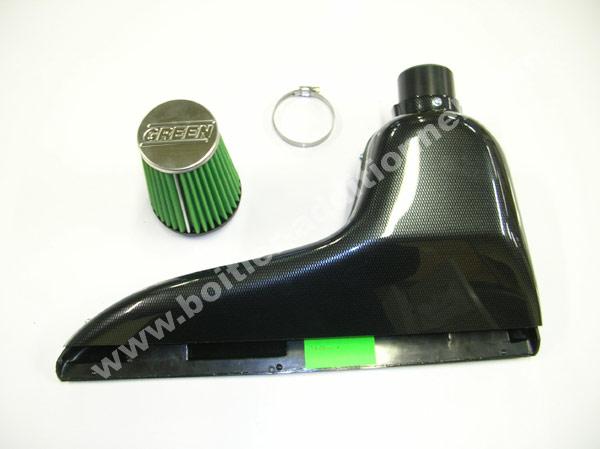kit d 39 admission green boite air dynamique peugeot pour peugeot 206. Black Bedroom Furniture Sets. Home Design Ideas